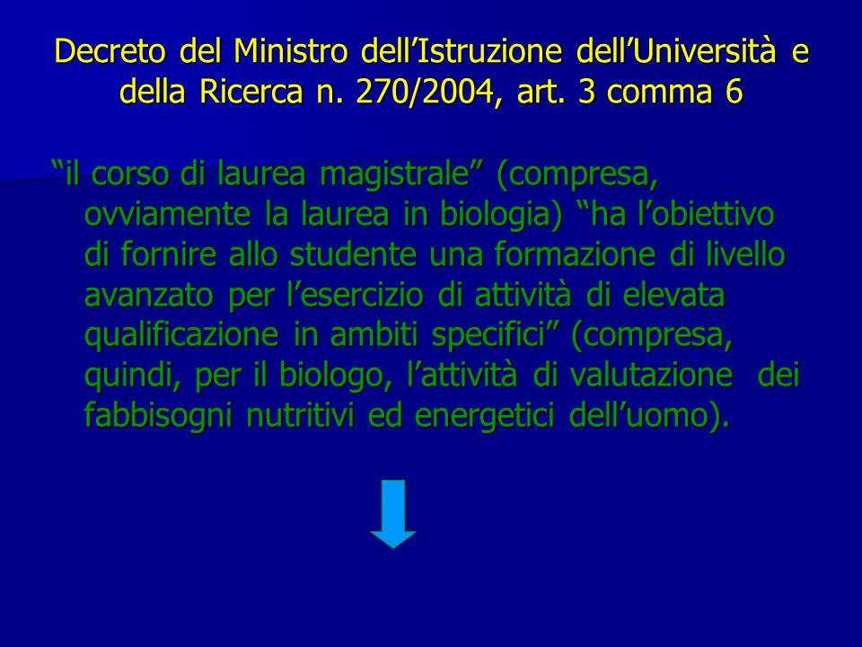 Decreto del Ministro dell'Istruzione dell'Università e della Ricerca n