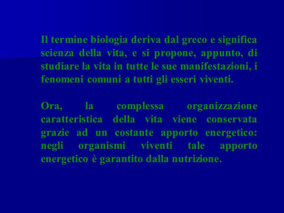Il termine biologia deriva dal greco e significa scienza della vita, e si propone, appunto, di studiare la vita in tutte le sue manifestazioni, i fenomeni comuni a tutti gli esseri viventi.