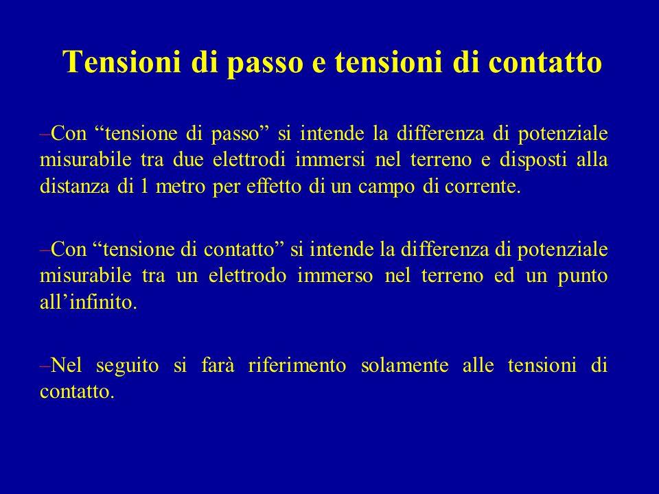 Tensioni di passo e tensioni di contatto