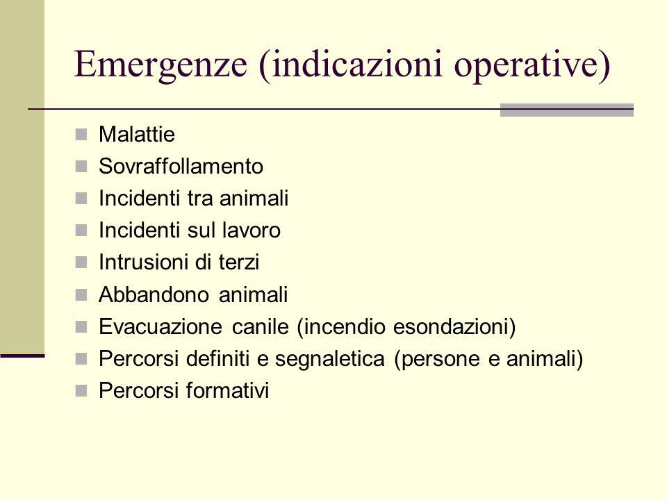 Emergenze (indicazioni operative)
