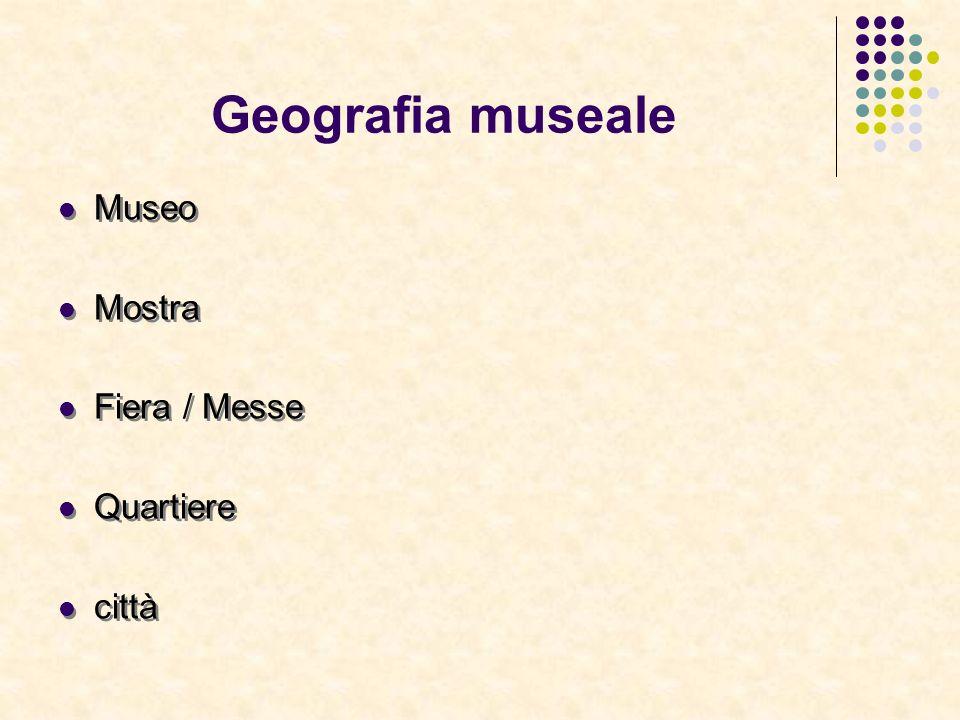 Geografia museale Museo Mostra Fiera / Messe Quartiere città