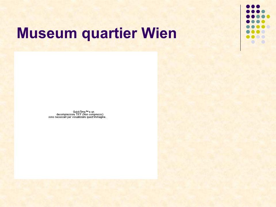 Museum quartier Wien Museum quarter Wien : arte figurativa e scenica, architettura, musica, moda, teatro, nuovi media e cultura per lユinfanzia.