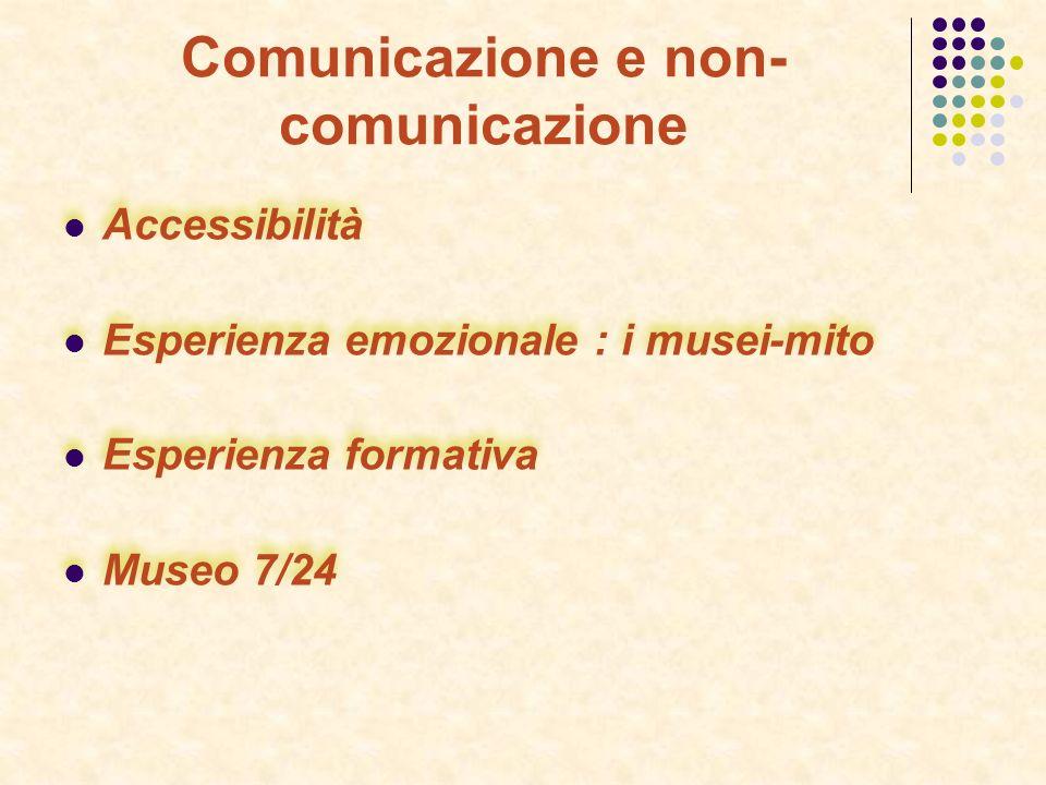 Comunicazione e non-comunicazione