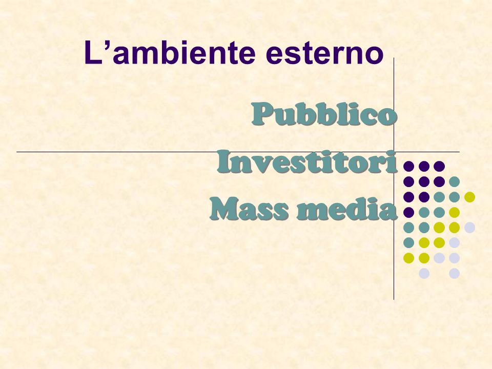 Pubblico Investitori Mass media