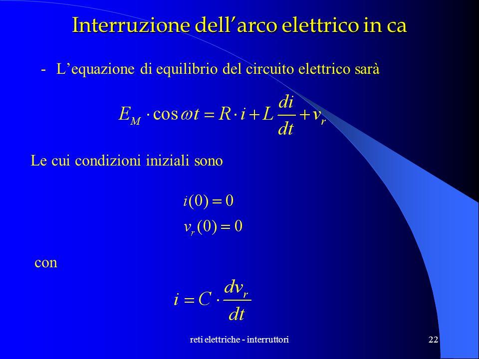 Interruzione dell'arco elettrico in ca