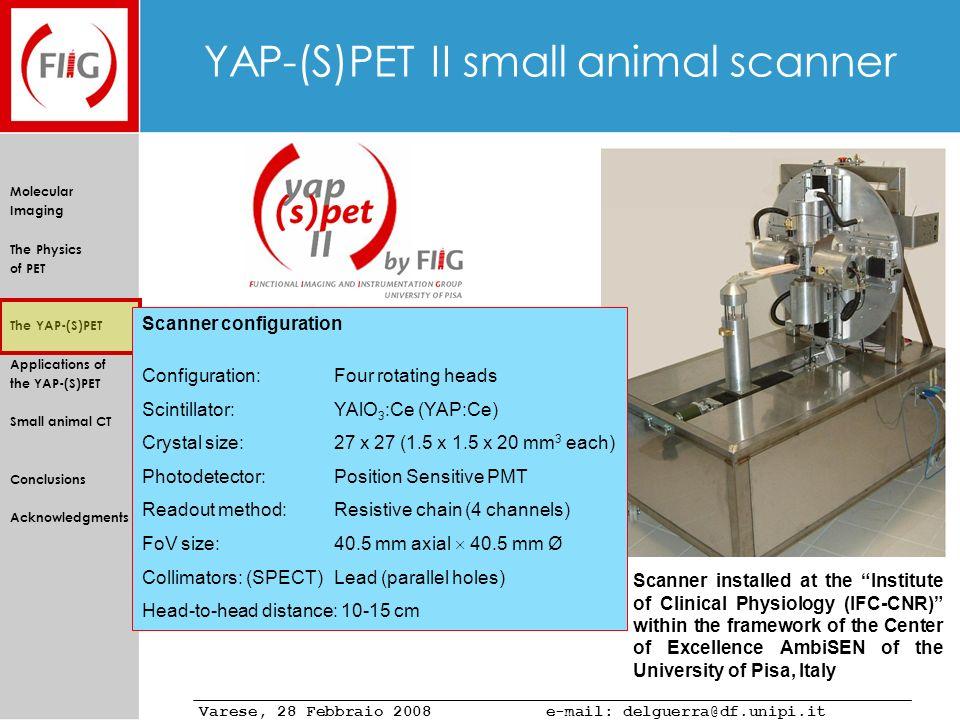 YAP-(S)PET II small animal scanner