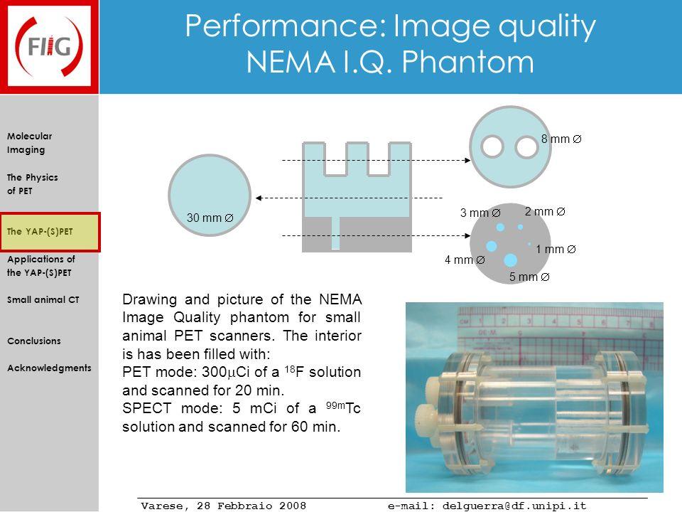 Performance: Image quality NEMA I.Q. Phantom