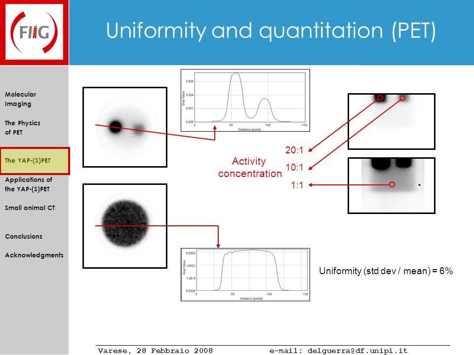 Uniformity and quantitation (PET)