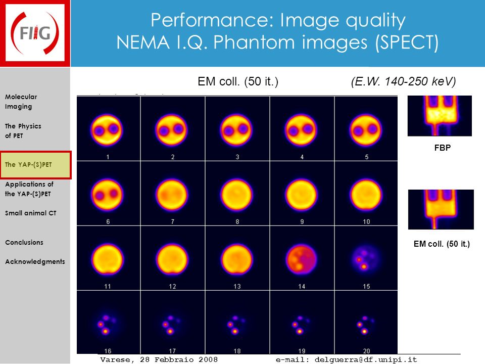Performance: Image quality NEMA I.Q. Phantom images (SPECT)