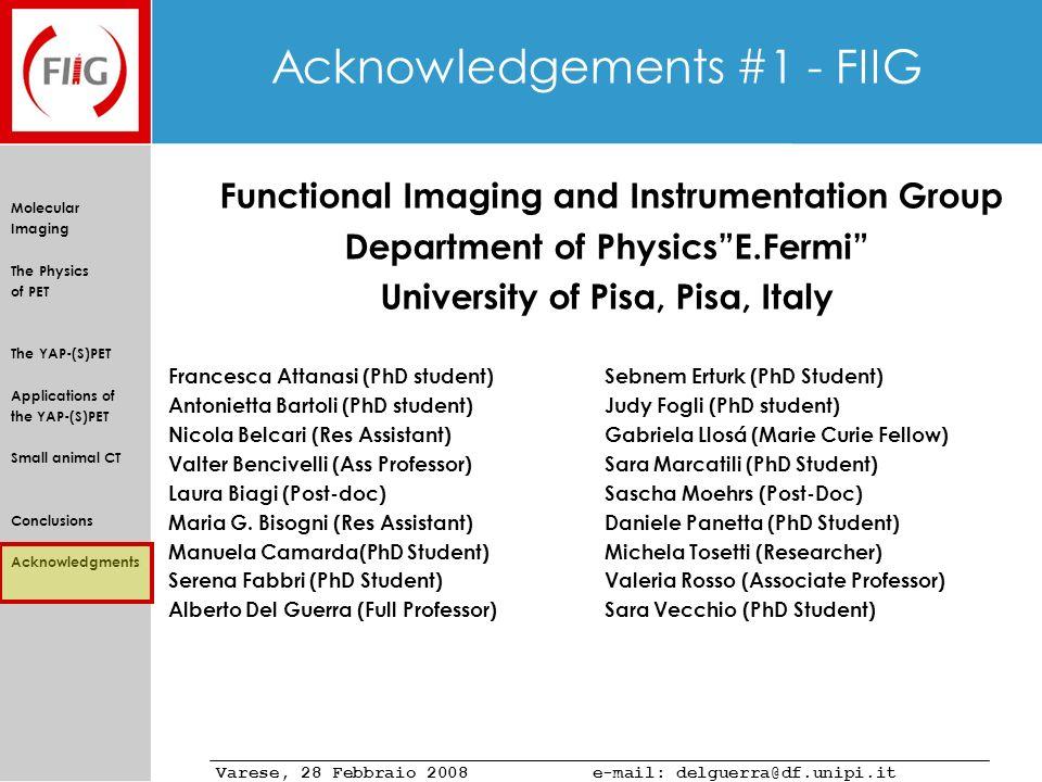 Acknowledgements #1 - FIIG