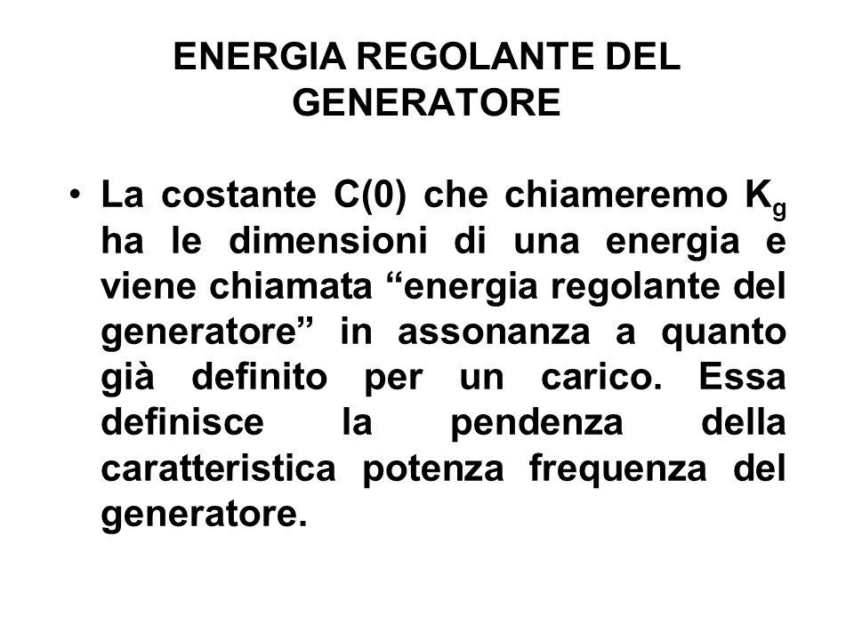 ENERGIA REGOLANTE DEL GENERATORE