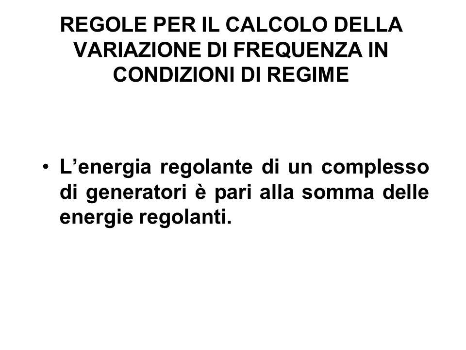 REGOLE PER IL CALCOLO DELLA VARIAZIONE DI FREQUENZA IN CONDIZIONI DI REGIME
