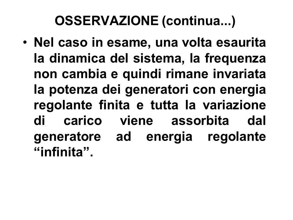 OSSERVAZIONE (continua...)