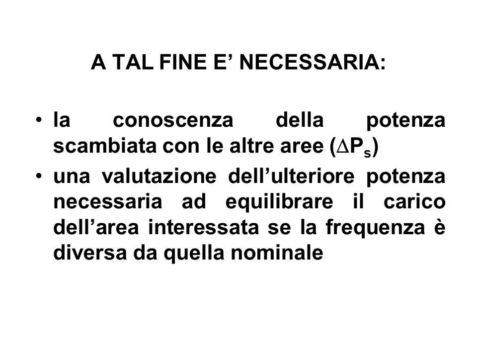A TAL FINE E' NECESSARIA: