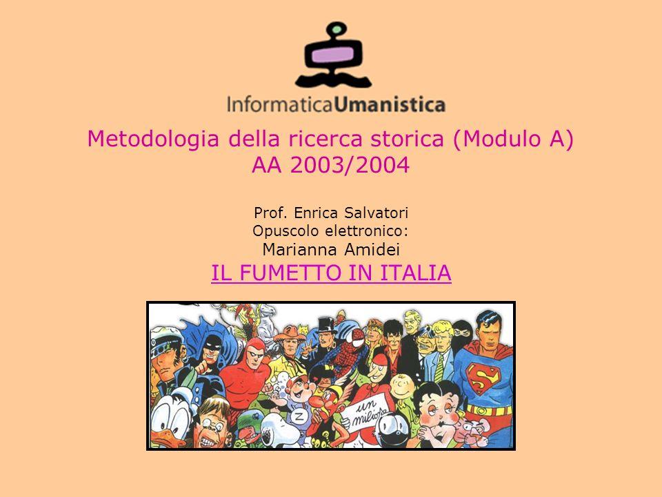 Metodologia della ricerca storica (Modulo A) AA 2003/2004 Prof