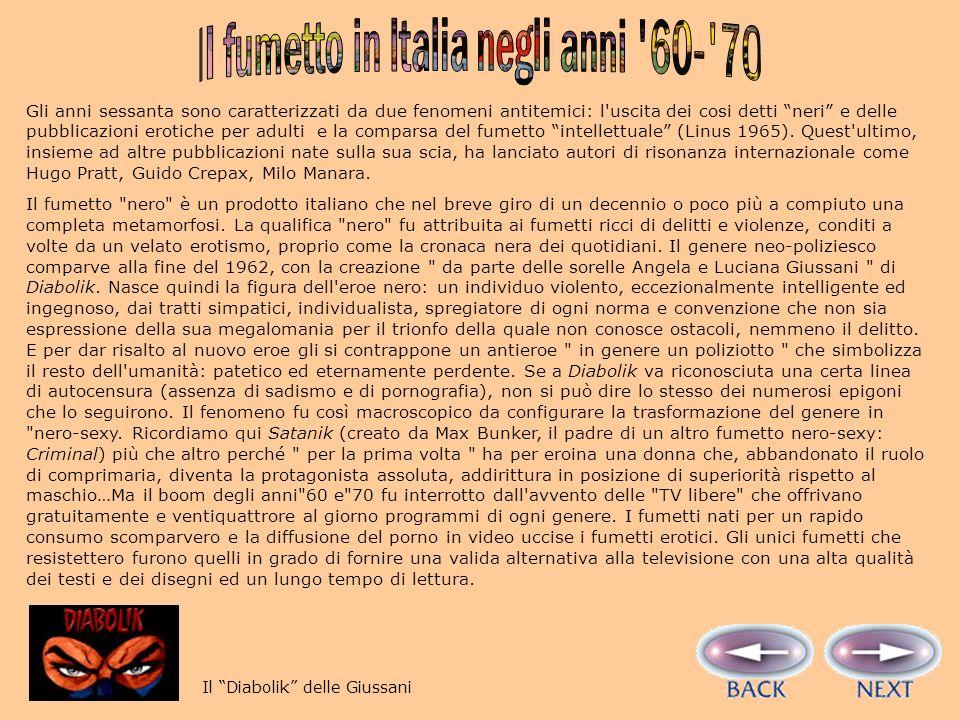 Il fumetto in Italia negli anni 60- 70