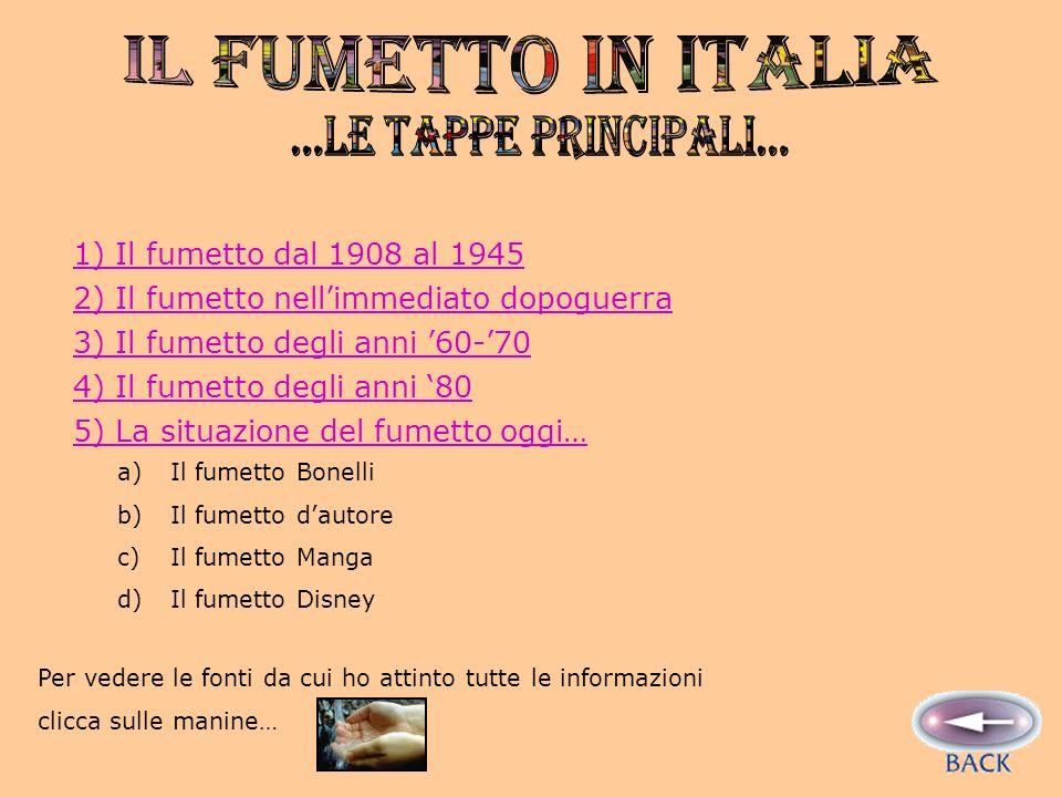 IL FUMETTO IN ITALIA ...Le tappe principali...