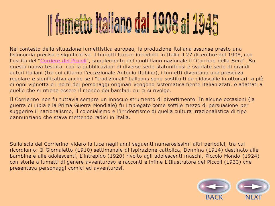 Il fumetto Italiano dal 1908 al 1945