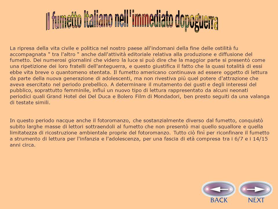 Il fumetto Italiano nell immediato dopoguerra