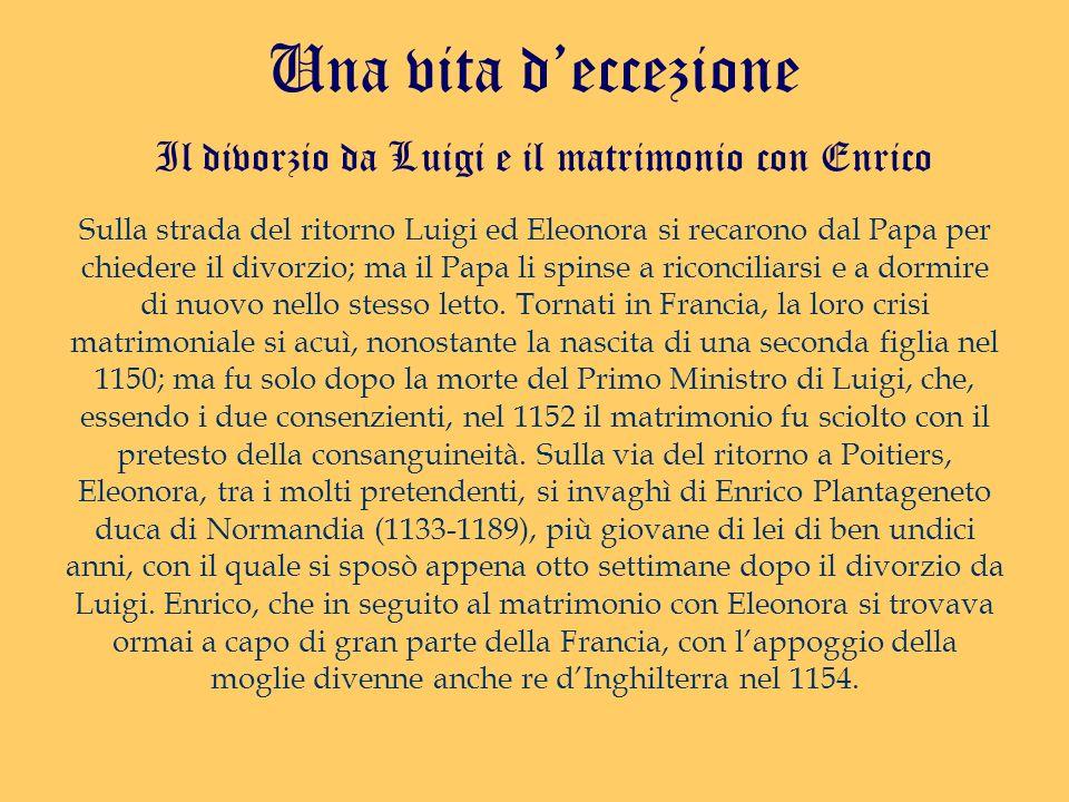 Il divorzio da Luigi e il matrimonio con Enrico