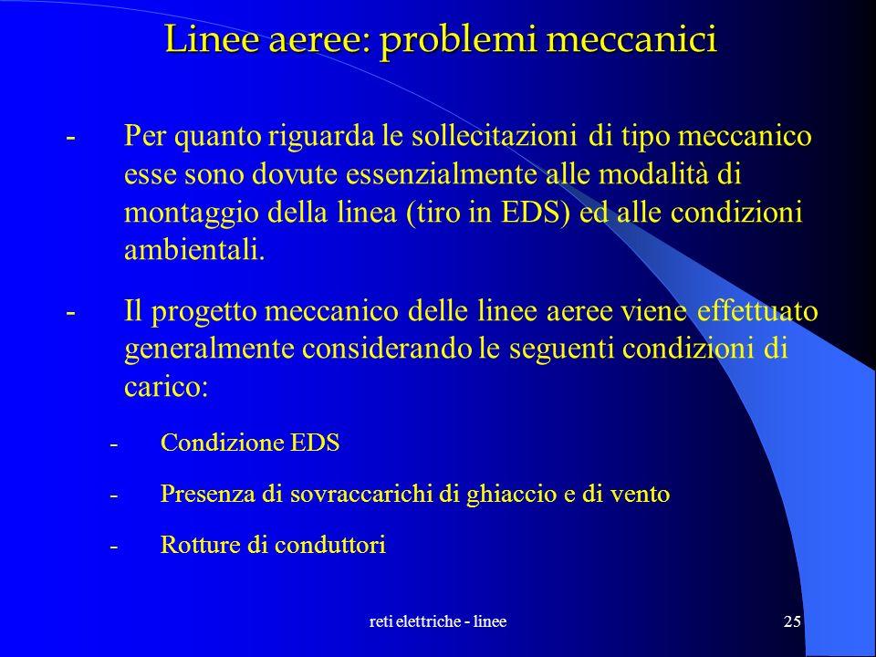 Linee aeree: problemi meccanici