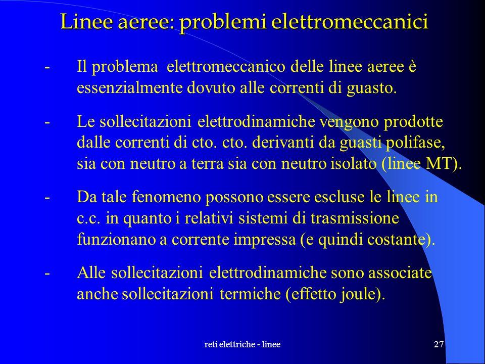Linee aeree: problemi elettromeccanici