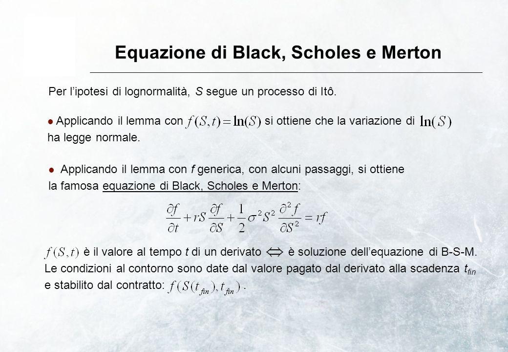 Equazione di Black, Scholes e Merton