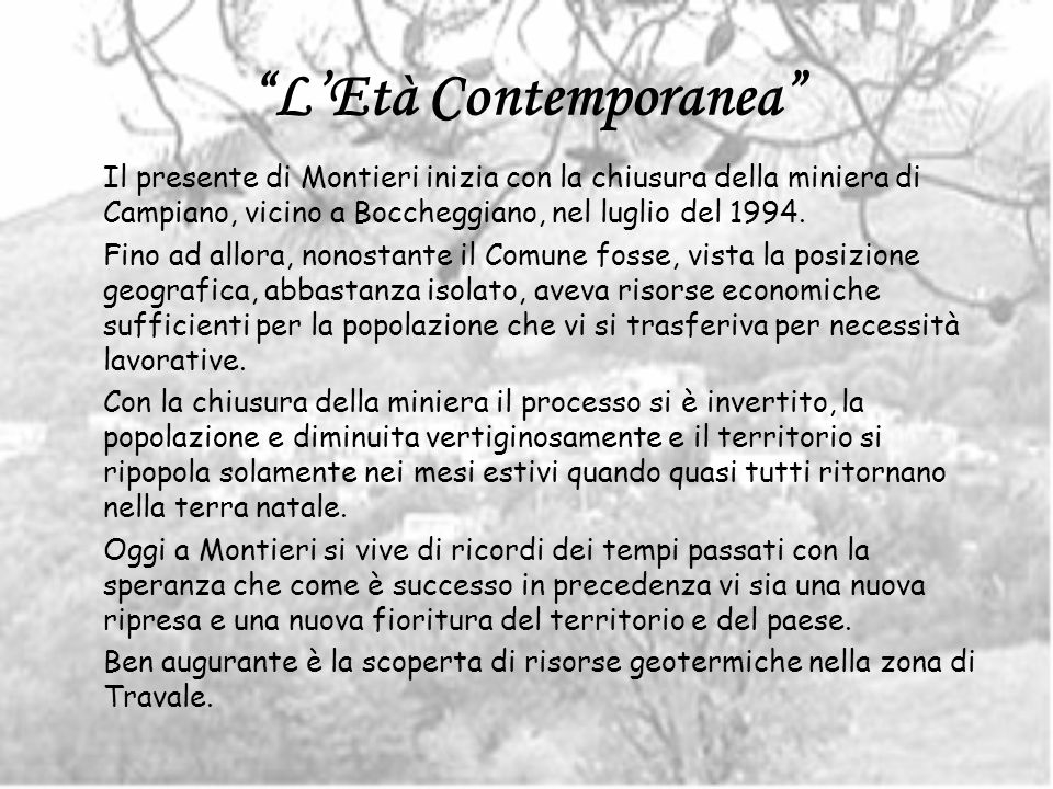 L'Età Contemporanea