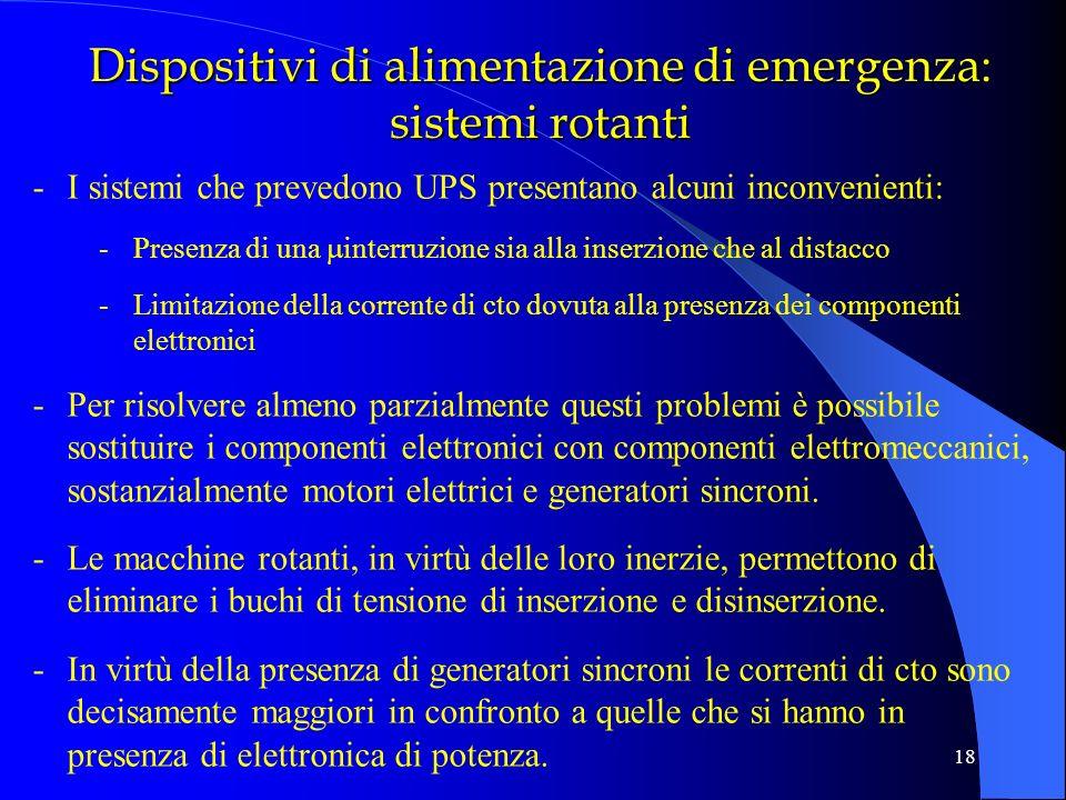 Dispositivi di alimentazione di emergenza: sistemi rotanti