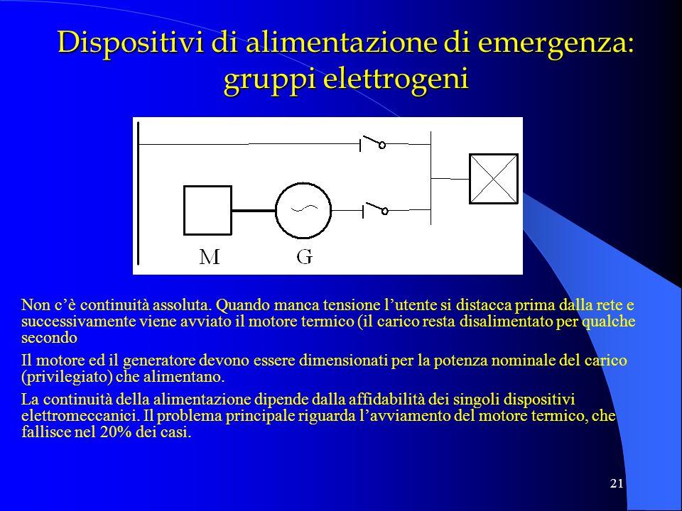 Dispositivi di alimentazione di emergenza: gruppi elettrogeni