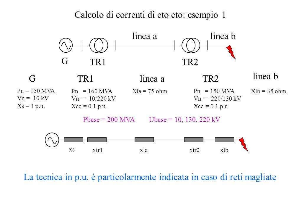 Calcolo di correnti di cto cto: esempio 1