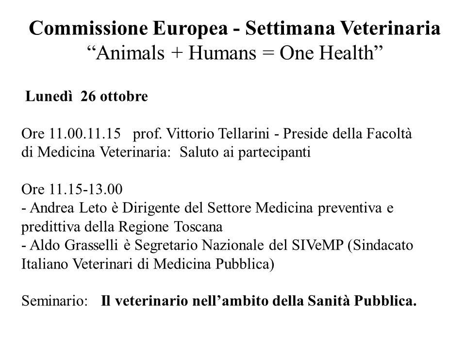 Commissione Europea - Settimana Veterinaria