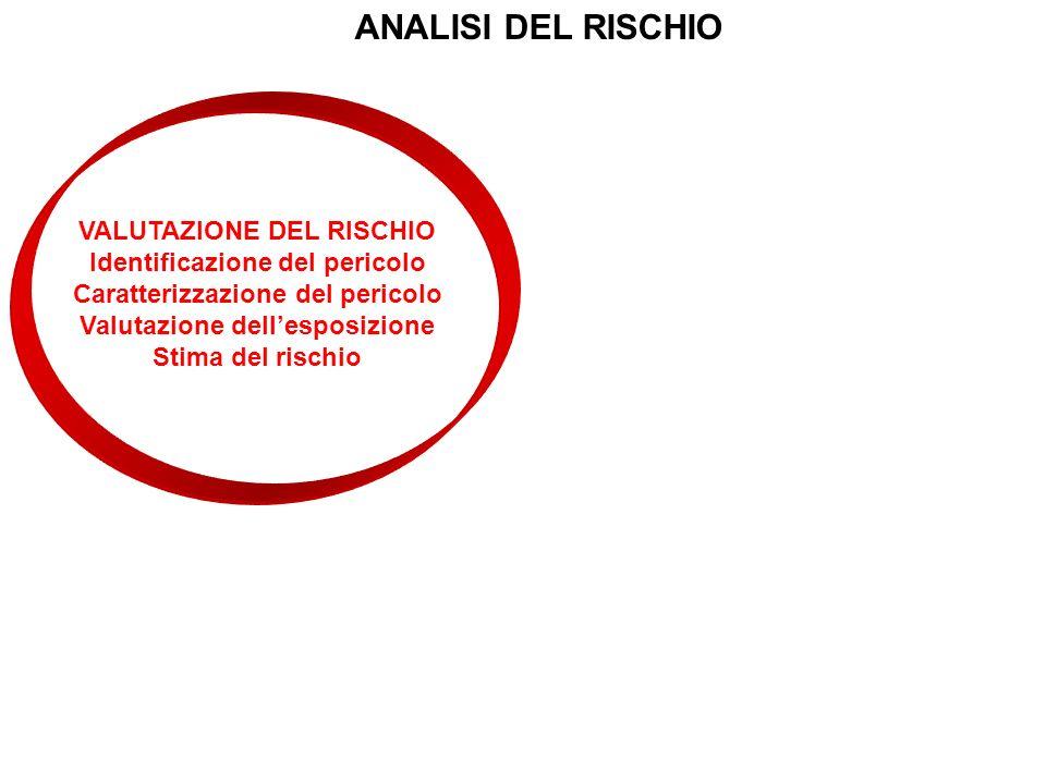 ANALISI DEL RISCHIO VALUTAZIONE DEL RISCHIO