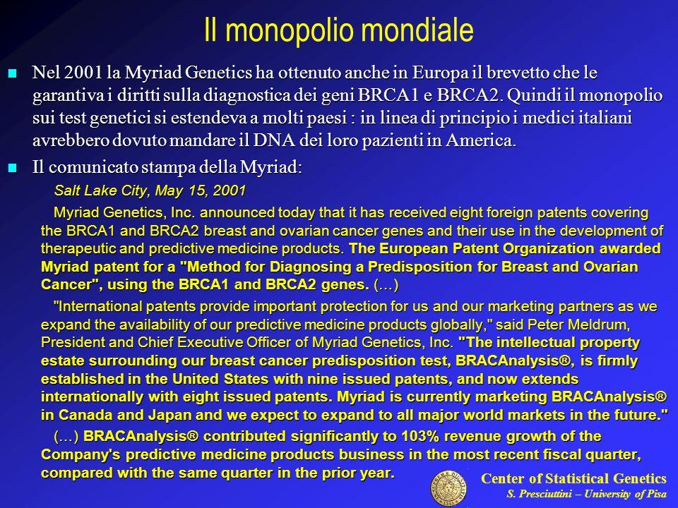 Il monopolio mondiale