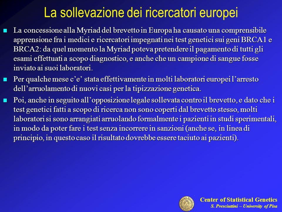 La sollevazione dei ricercatori europei