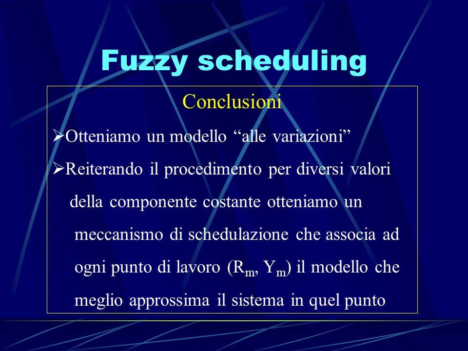 Fuzzy scheduling Conclusioni Otteniamo un modello alle variazioni