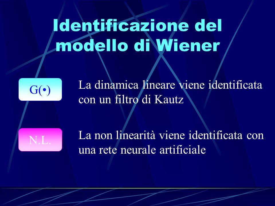 Identificazione del modello di Wiener