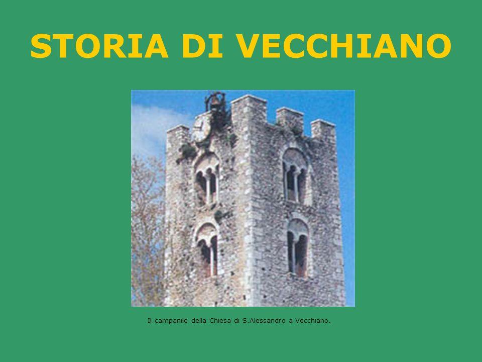 Il campanile della Chiesa di S.Alessandro a Vecchiano.