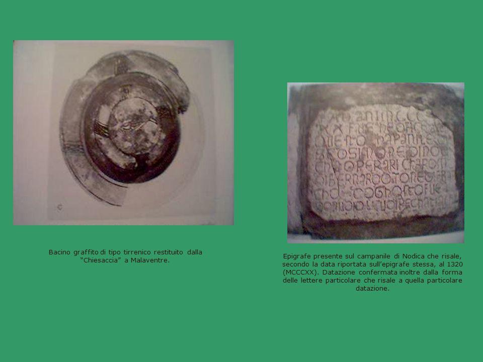 Bacino graffito di tipo tirrenico restituito dalla Chiesaccia a Malaventre.