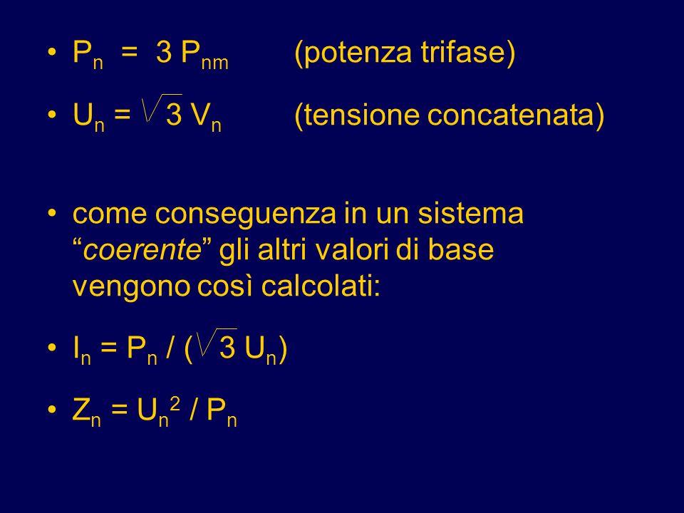 Pn = 3 Pnm (potenza trifase)