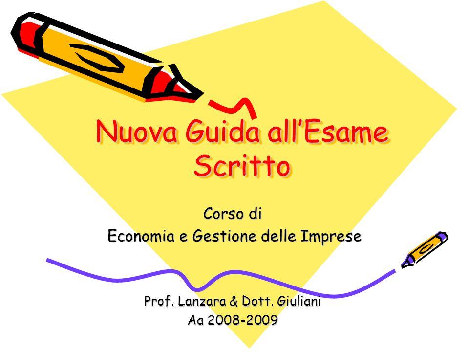 Nuova Guida all'Esame Scritto