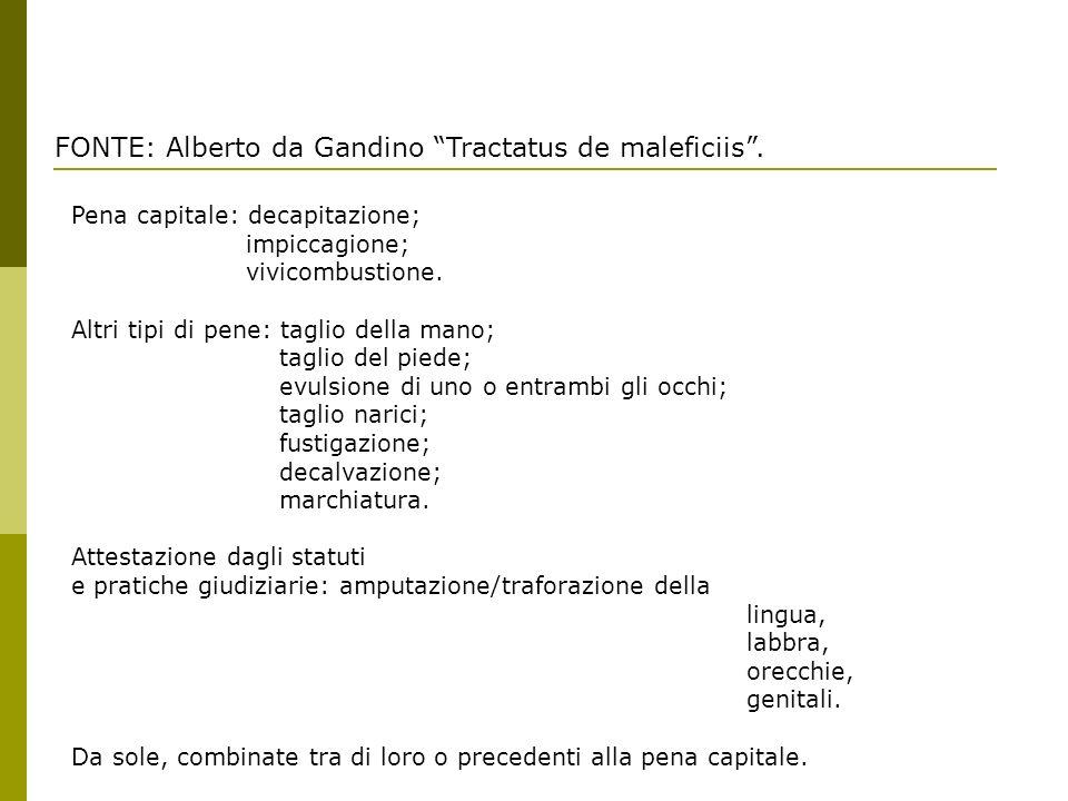 FONTE: Alberto da Gandino Tractatus de maleficiis .