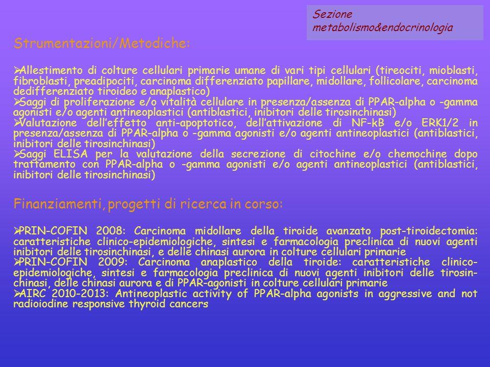Strumentazioni/Metodiche:
