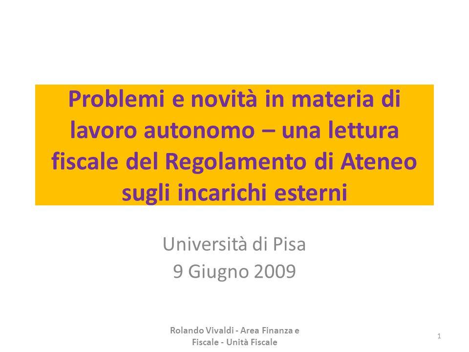 Università di Pisa 9 Giugno 2009