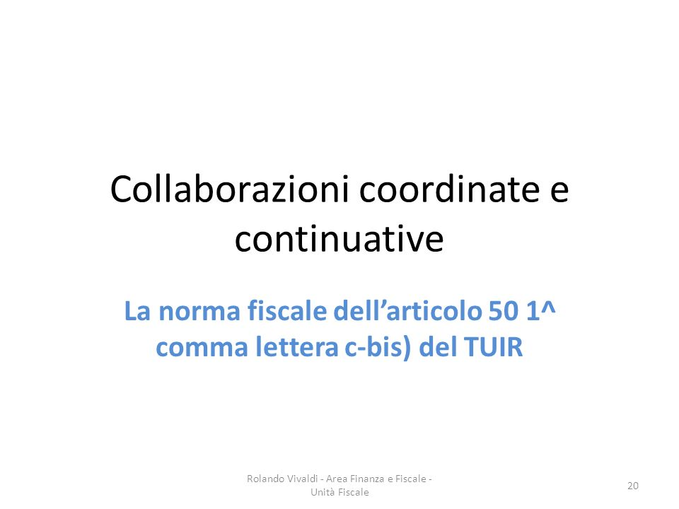 Collaborazioni coordinate e continuative