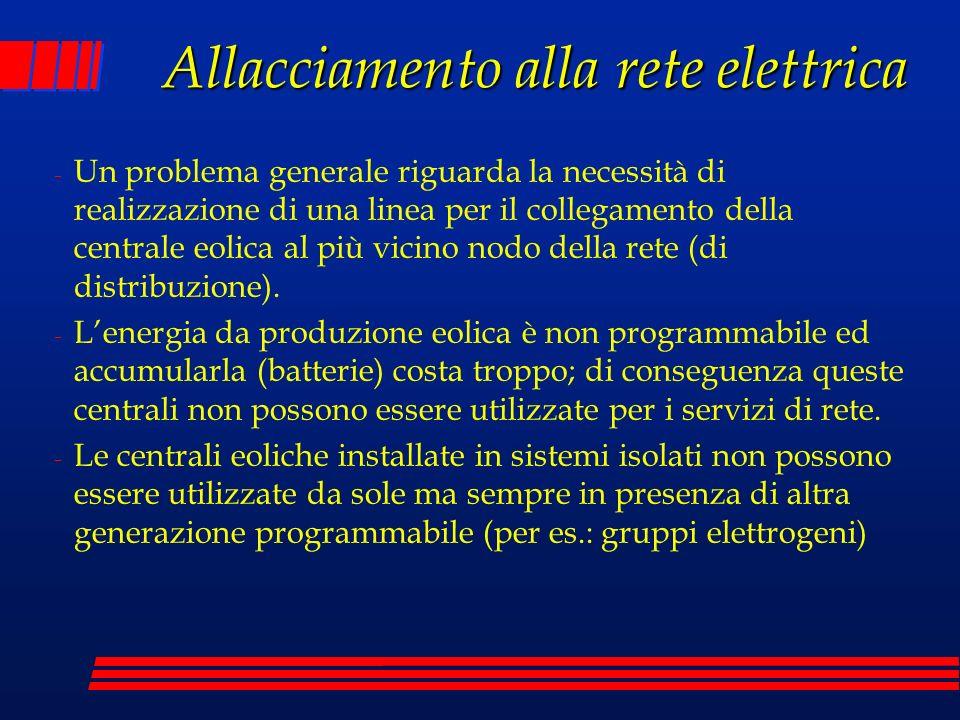 Allacciamento alla rete elettrica