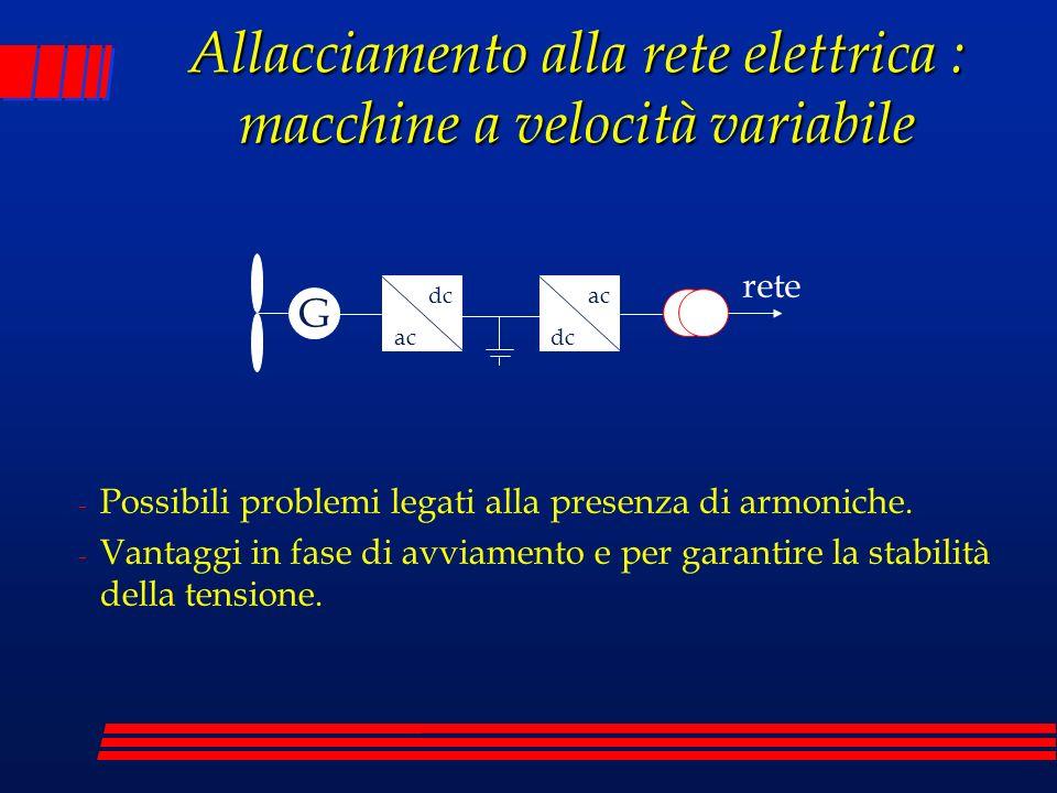 Allacciamento alla rete elettrica : macchine a velocità variabile