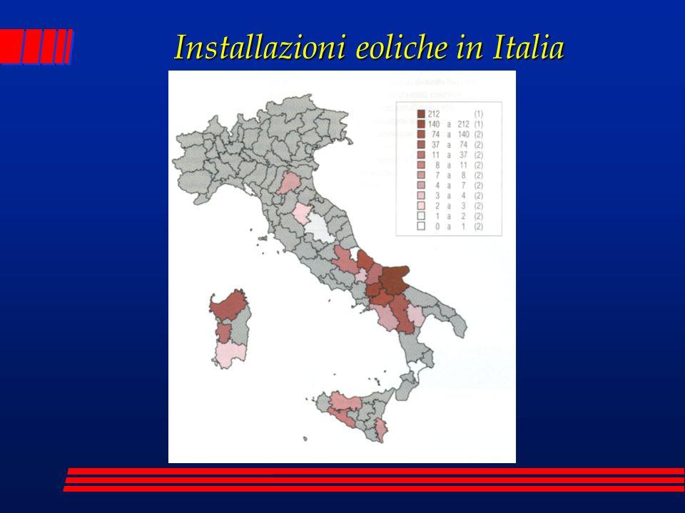 Installazioni eoliche in Italia
