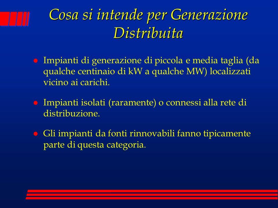 Cosa si intende per Generazione Distribuita