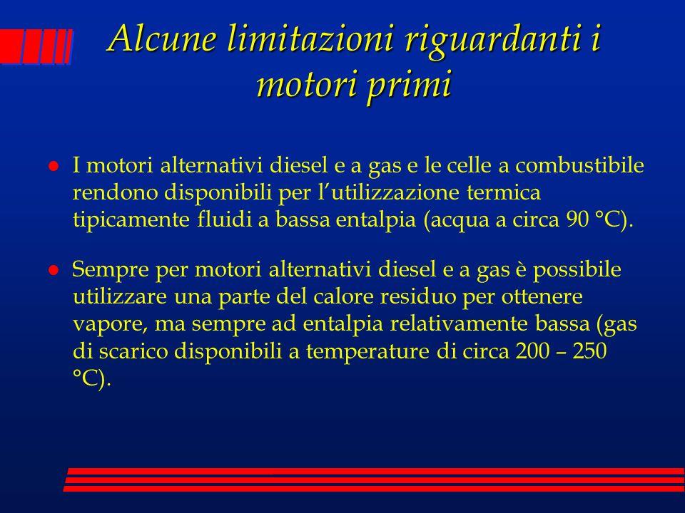 Alcune limitazioni riguardanti i motori primi